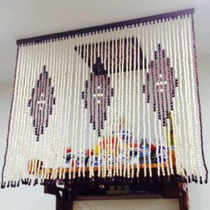 Mành rèm bàn thờ hạt gỗ giá rẻ