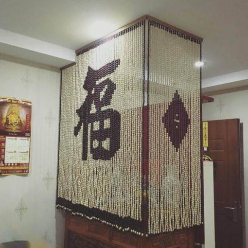 Mành rèm bàn thờ hạt gỗ cao cấp