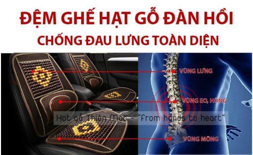 Đệm ghế hạt gỗ chống đau lưng hiệu quả