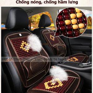 Đệm lót ghế hạt gỗ chống nóng lưng