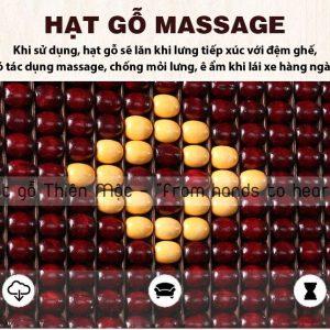Hạt gỗ tự động xoay giúp massage tốt hơn