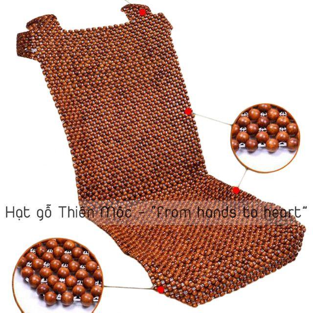 Đệm lót ghế hạt gỗ Bồ Đề giá rẻ