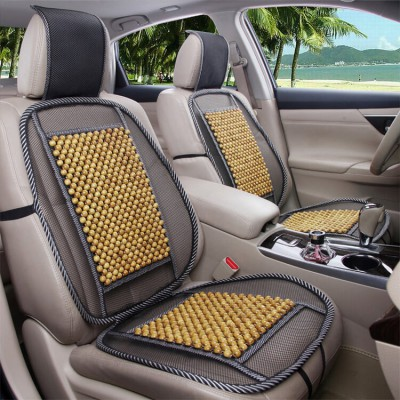 Đệm lót ghế ô tô hạt gỗ đan lưới đàn hồi