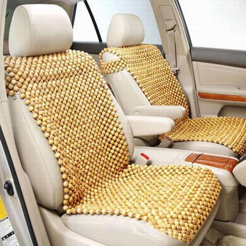 đệm lót ghế ô tô hạt gỗ cao cấp