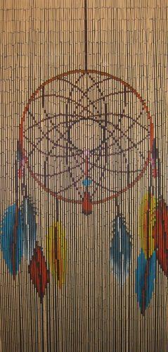 Rèm hạt gỗ phong cách Vintage