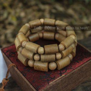 Vòng gỗ Xá Xị đốt trúc