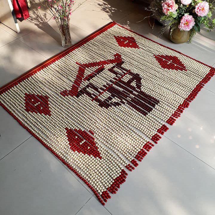 Rèm bàn thờ hạt gỗ Bồ Đề