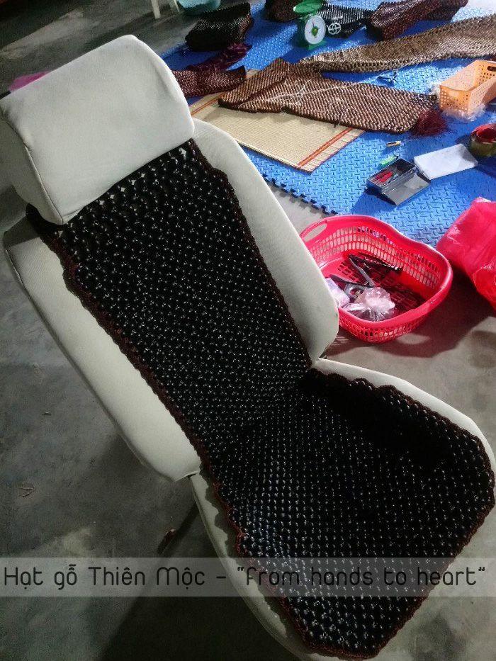 Đệm lót ghế hạt Bồ Hòn kết viền cao cấp