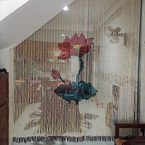 Mành rèm hạt gỗ Hoa Sen Thiên Mộc