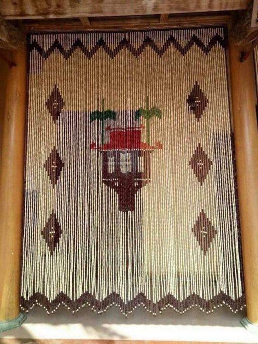Rèm hạt gỗ Chùa Một Cột